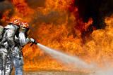 Firefighters Combat a Jp-8 Jet Fuel Fire