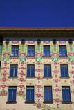 Otto Wagner's Art Nouveau Apartments  Majolica House  Vienna  Austria  Europe