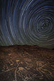 Star Trails at an Ancient Petroglyph Site Near Bishop  California