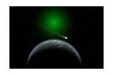 A Comet Passing a Distant Alien World