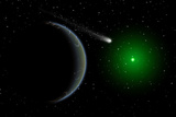 A Comet Passing a Distant Alien World