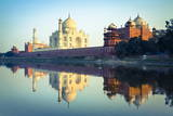 The Taj Mahal Reflected in the Yamuna River