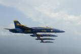 F-A-18 Hornets from the US Navy Blue Angels Team