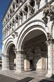 The Loggia Entrance to San Giovanni  Lucca  Tuscany  Italy  Europe