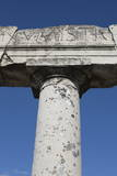 Pillar in Ancient Pompeii  UNESCO World Heritage Site  Campania  Italy  Europe