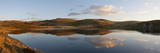 A Panoramic View of Pant Y Llyn Lake  Epynt  Powys  Wales  United Kingdom  Europe