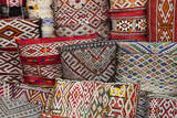 Traditional Colourful Moroccan Cushions for Sale in the Souks