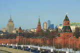 The Kremlin Wall and the Business Center  Moscow  Russia  Europe