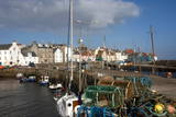 Inner Harbour and Cottages at St Monan  East Coast  Fife  Scotland  United Kingdom  Europe