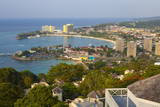 Elevated View over City and Coastline  Ocho Rios  Jamaica  West Indies  Caribbean  Central America