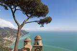 The Twin Domes of San Pantaleone Church from Villa Rofolo in Ravello