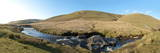 Panoramic Landscape View at Elan Valley  Cambrian Mountains  Powys  Wales  United Kingdom  Europe