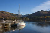 Autumn  Head of Lake Ullswater  by the Lake Steamer Dock  Lake District National Park  Cumbria