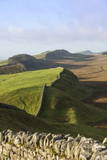 View West from Kings Hill to Housesteads Crags and Cuddy's Crags