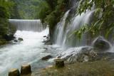 Waterfall in Xiaoqikong Rain Forest  Guizhou Province  China  Asia