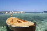 Boat at the Beach  Palau  Sardinia  Italy  Mediterranean  Europe