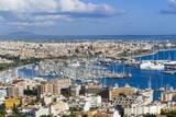 Palma De Majorca Harbor Bay from Bellver Castle