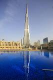 Burj Khalifa Reflected in Hotel Swimming Pool  Dubai  United Arab Emirates  Middle East