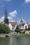 View over River Danube to the Old Town of Ulm