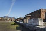 The Forum and Vesuvius Volcano  Pompeii  UNESCO World Heritage Site  Campania  Italy  Europe
