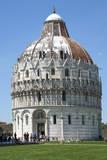 The Baptistry  UNESCO World Heritage Site  Pisa  Tuscany  Italy  Europe