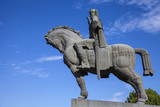 Avlabari  Equestrian Statue of King Vakhtang Gorgasali Beside Metekhi Church  Tbilisi  Central Asia