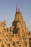 Jain Temple Roof Detail  Jaisalmer  Western Rajasthan  India  Asia