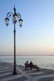 Evening  Lazise  Lake Garda  Italian Lakes  Lombardy  Italy  Europe
