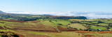 A Panoramic Landscape View Near Hay Bluff  Powys  Wales  United Kingdom  Europe