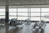 Empty Airport Hall  Prague  Czech Republic  Europe