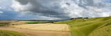 Panoramic Landscape View of the Cherhill Downs  Wiltshire  England  United Kingdom  Europe