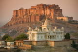 Jaswant Thada and Meherangarh Fort  Jodhpur (The Blue City)  Rajasthan  India  Asia