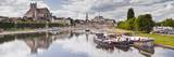 The Cathedral and Town of Auxerre on the River Yonne  Burgundy  France  Europe