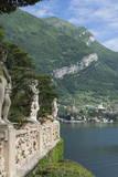 Terrace Statues  Villa Barbonella  Lake Como  Italian Lakes  Lombardy  Italy  Europe