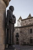 San Pedro De Alcantara Statue in Caceres  UNESCO World Heritage Site  Extremadura  Spain  Europe