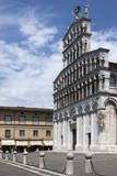 Facade of San Michele  Lucca  Tuscany  Italy  Europe