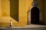 Woman Walking Along Street  San Miguel De Allende  Guanajuato  Mexico  North America