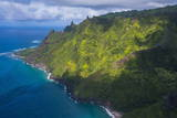Aerial of the Napali Coast  Kauai  Hawaii  United States of America  Pacific