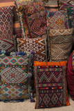 Traditional Moroccan Cushions for Sale in Old Square  Marrakech  Morocco  North Africa  Africa