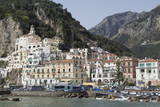 The Maritime Town of Amalfi Nestling Below Mountains