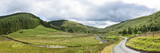Panoramic Landscape View  Abergwesyn Valley  Powys  Wales  United Kingdom  Europe