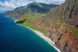 Aerial of the Rugged Napali Coast  Kauai  Hawaii  United States of America  Pacific