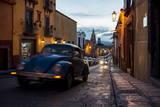 Volkswagen on Cobbled Street  San Miguel De Allende  Guanajuato  Mexico  North America