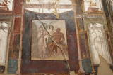 Ancient Painted Roman Fresco in Herculaneum  UNESCO World Heritage Site  Campania  Italy  Europe