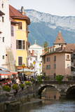 A View of the Canal in the Old Town of Annecy  Haute-Savoie  France  Europe
