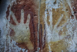 Monolithic Cave Paintings in Raja Ampat  West Papua  Indonesia  New Guinea  Southeast Asia  Asia