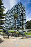 Kangaroo Statue in Front of the City of Perth Council  Perth  Western Australia  Australia  Pacific