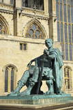 Statue of Roman Emperor Constantine the Great  York  Yorkshire  England  United Kingdom  Europe