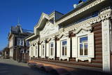 Wooden Architecture  the House of Europe  Irkutsk  Siberia  Russia  Eurasia