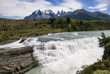 Rio Paine Waterfalls in the Torres Del Paine National Park  Patagonia  Chile  South America